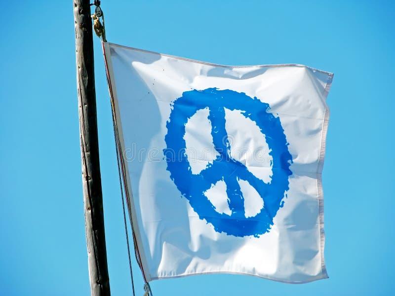 Fredflagga royaltyfria bilder
