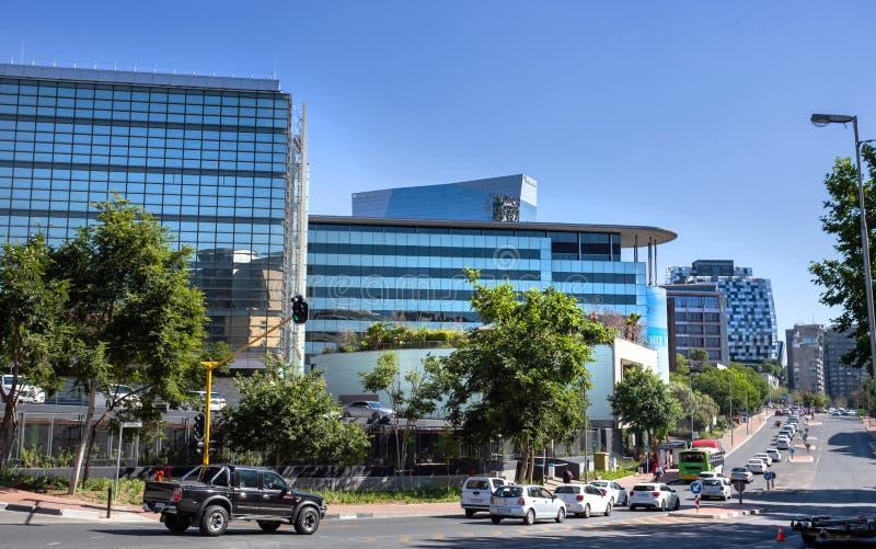 Fredmanaandrijving in Sandton Johannesburg royalty-vrije stock afbeelding