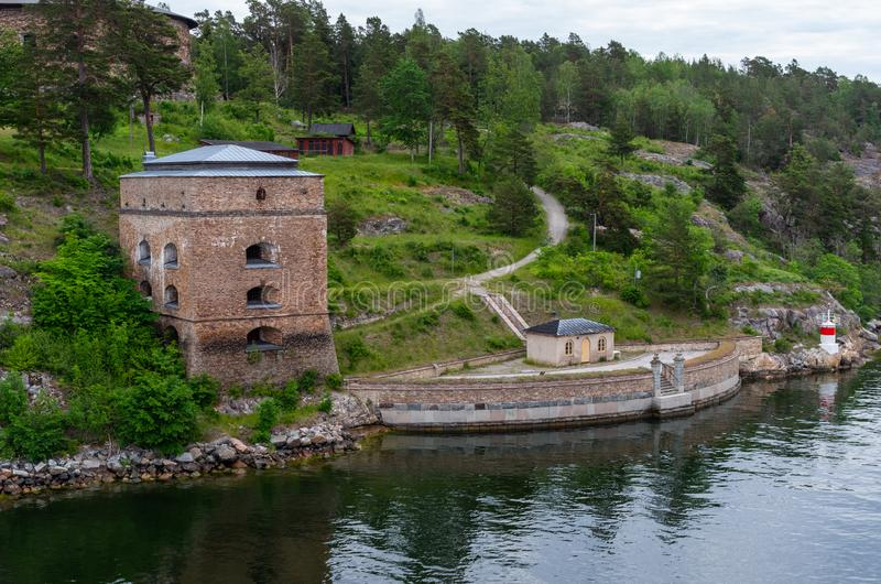 Fredriksborg堡垒塔 免版税库存图片