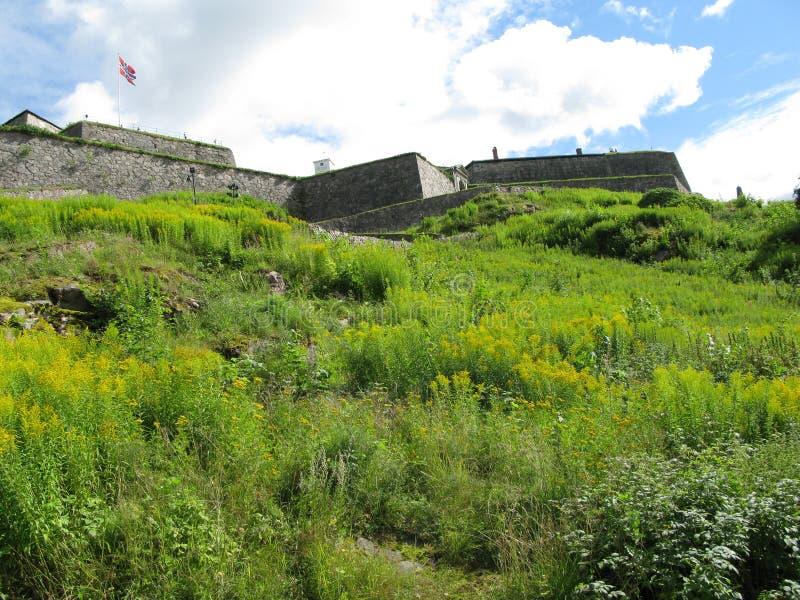 Fredriksten fästning i Halden, Norge arkivbild