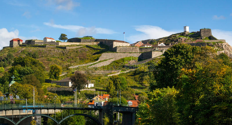 Fredriksten Festung stockbild