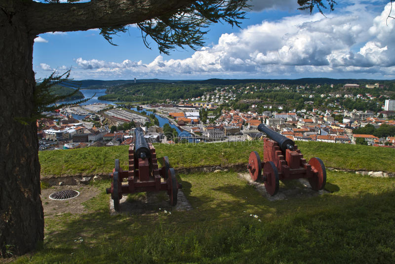 Download Fredriksten Fortress In Halden (old Cannons) Stock Photo - Image: 26009512