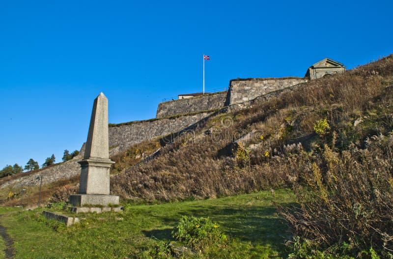 Fredriksten fortress, monument of tønne huitfeldt. Tønne huitfeldt, (born 20 november 1625 , died on 12 september 1677 at fredriksten fortress) was the stock photography