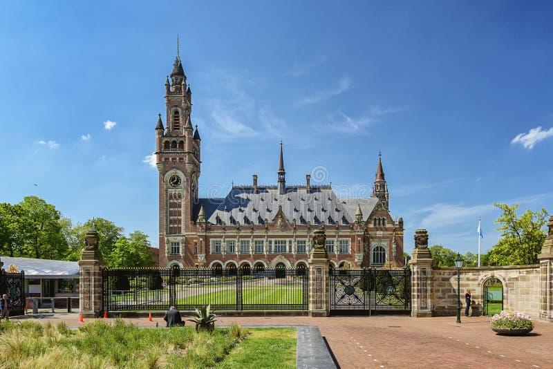 Fredslott i Haag, Nederländerna Det inhyser bland annan t arkivbild