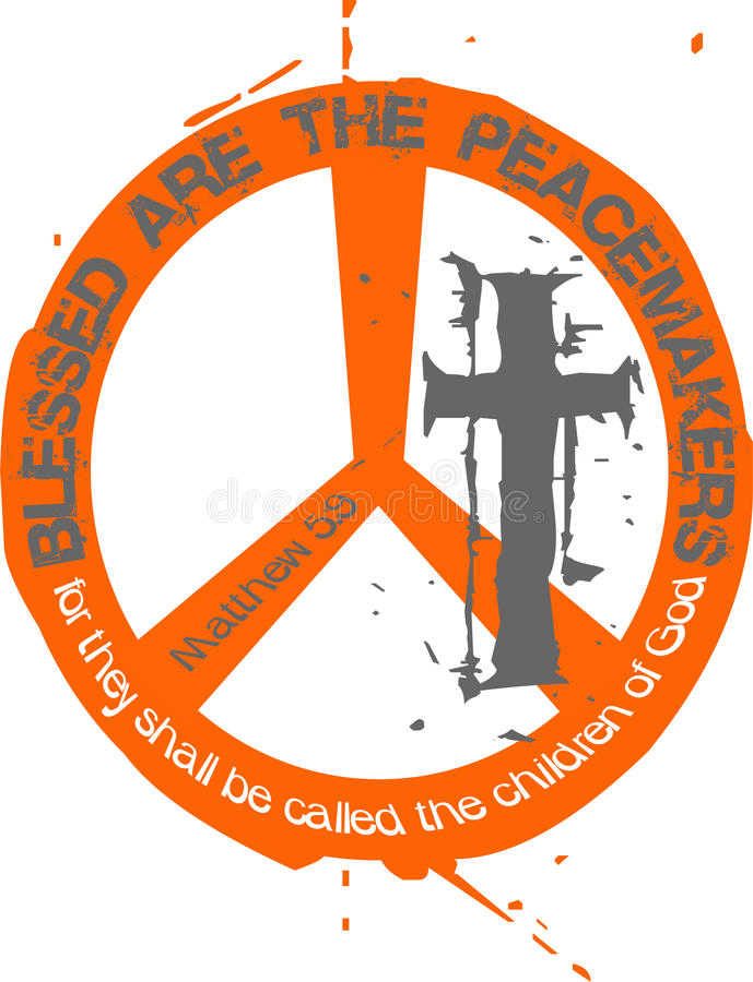 fredsmäklare vektor illustrationer