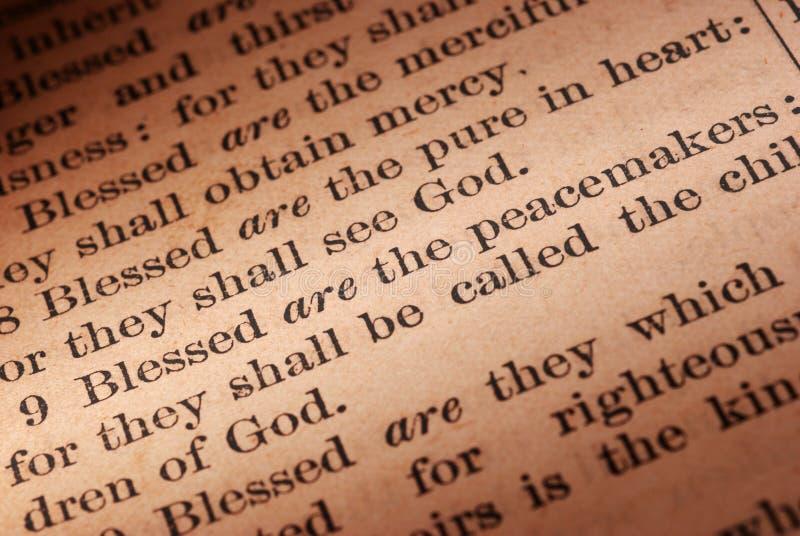 fredsmäklarescripture arkivfoton