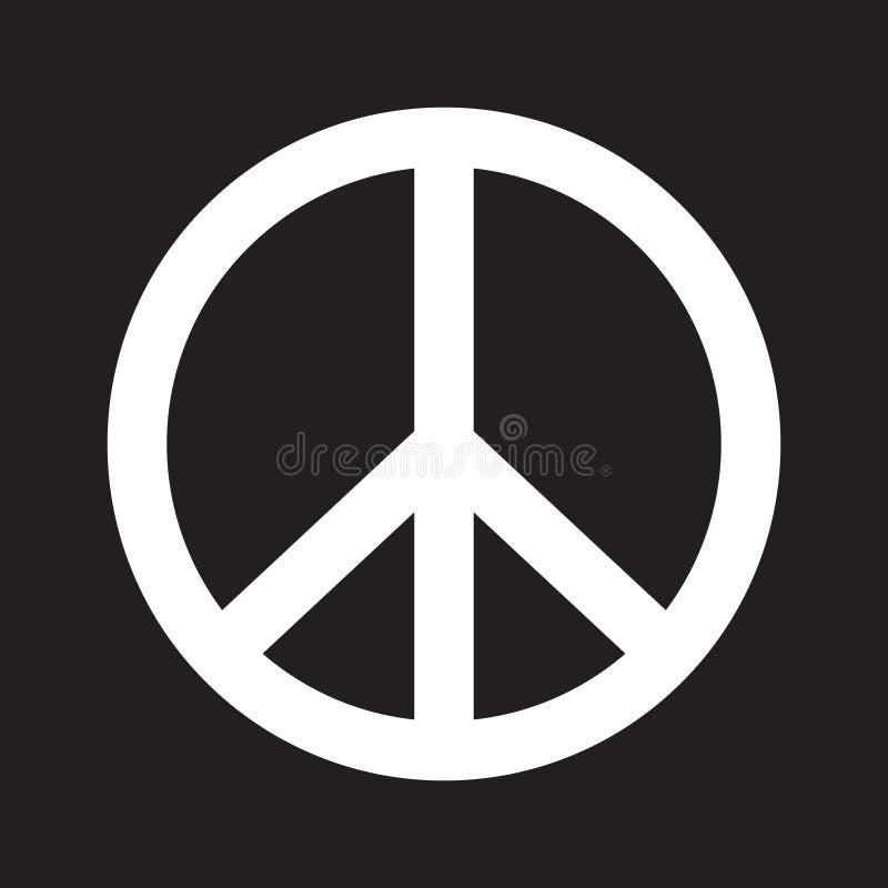Fredtecken vektor illustrationer