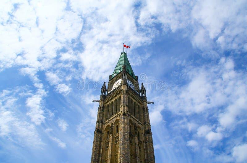 Fredtorn officiellt: tornet av segern och fred av parlamentbyggnader royaltyfri foto
