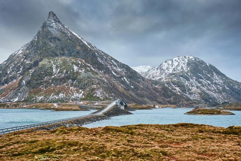 Download Fredvang Bridges. Lofoten Islands, Norway Stock Photo - Image: 103306150