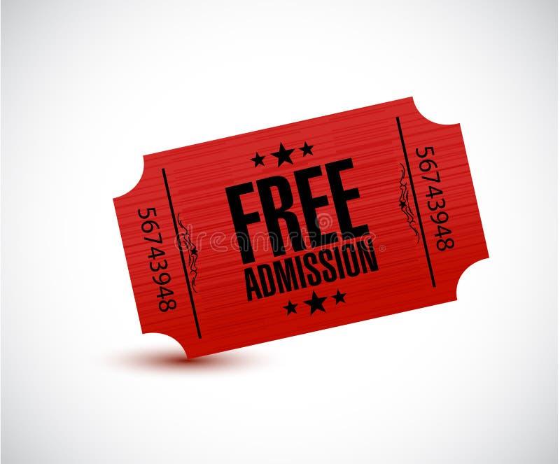 Free admission ticket illustration design royalty free illustration