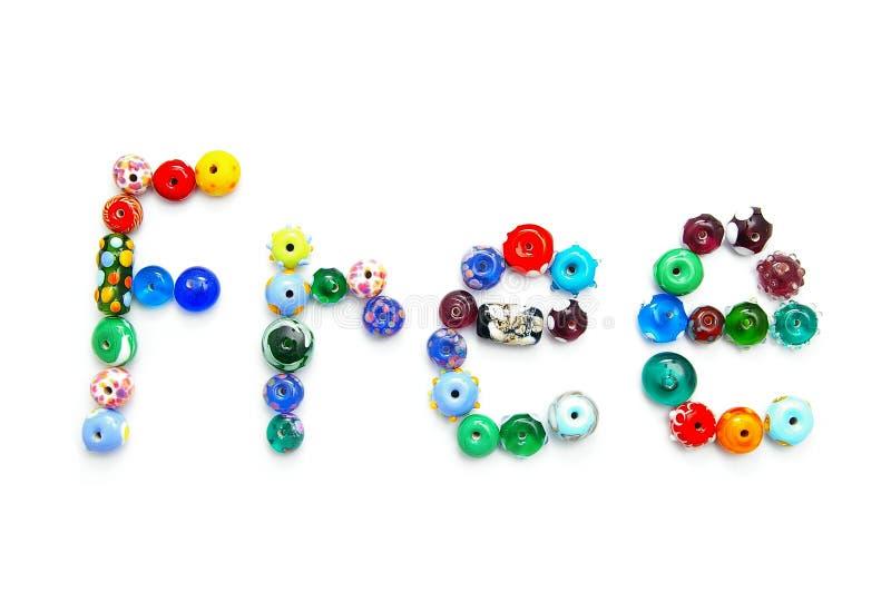 Free bead text stock photo