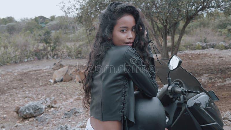 Free beautiful woman motorcycle rider stock photos
