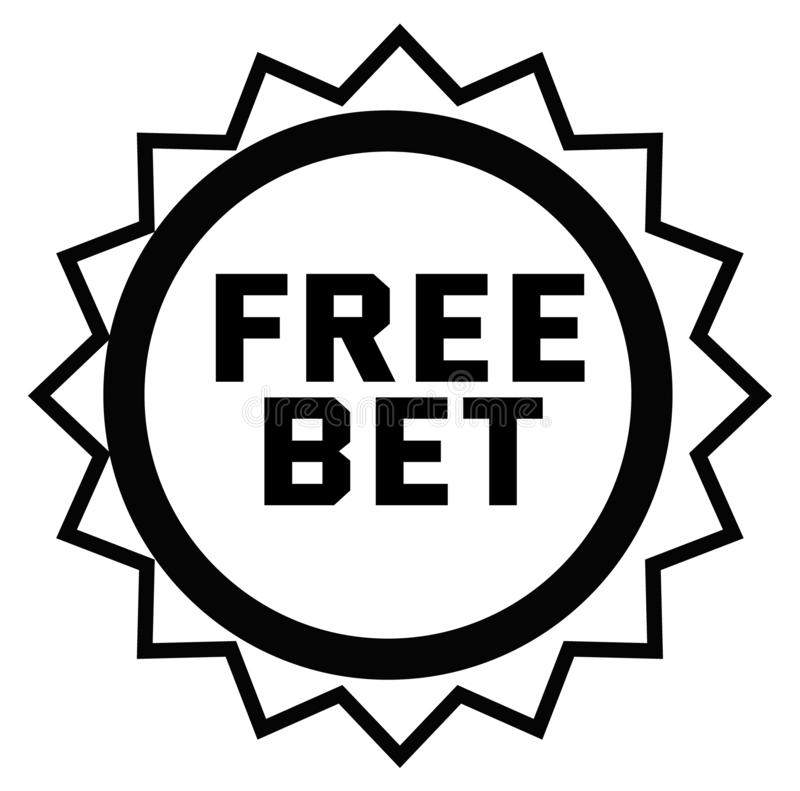 FREE BET stamp on white. Background. Signs and symbols series stock illustration