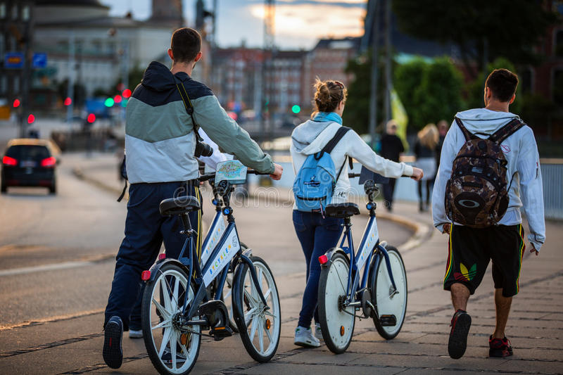 Download Free bicycles editorial photo. Image of tourists, dusk - 26306936