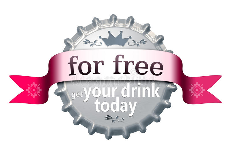 For free bottle cap stock illustration