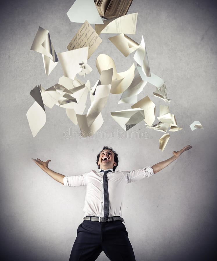 Download Free Businessman Throwing Up Some Papers Stock Image - Image of scream, jubilate: 39501101
