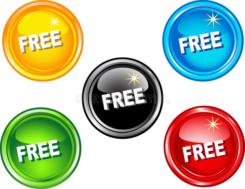 Free buttons stock illustration