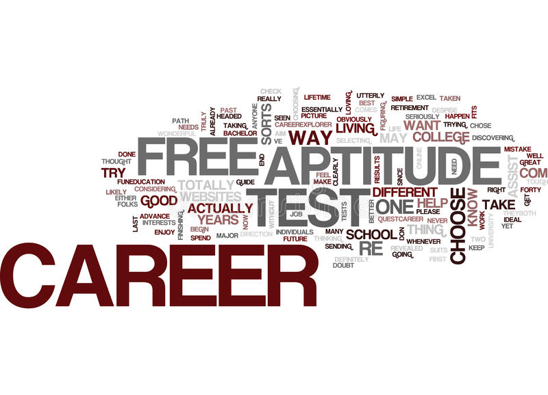 Download Free Career Aptitude Test Text Background Word Cloud Concept Stock  Vector   Illustration Of Concept  Career Aptitude Test Free