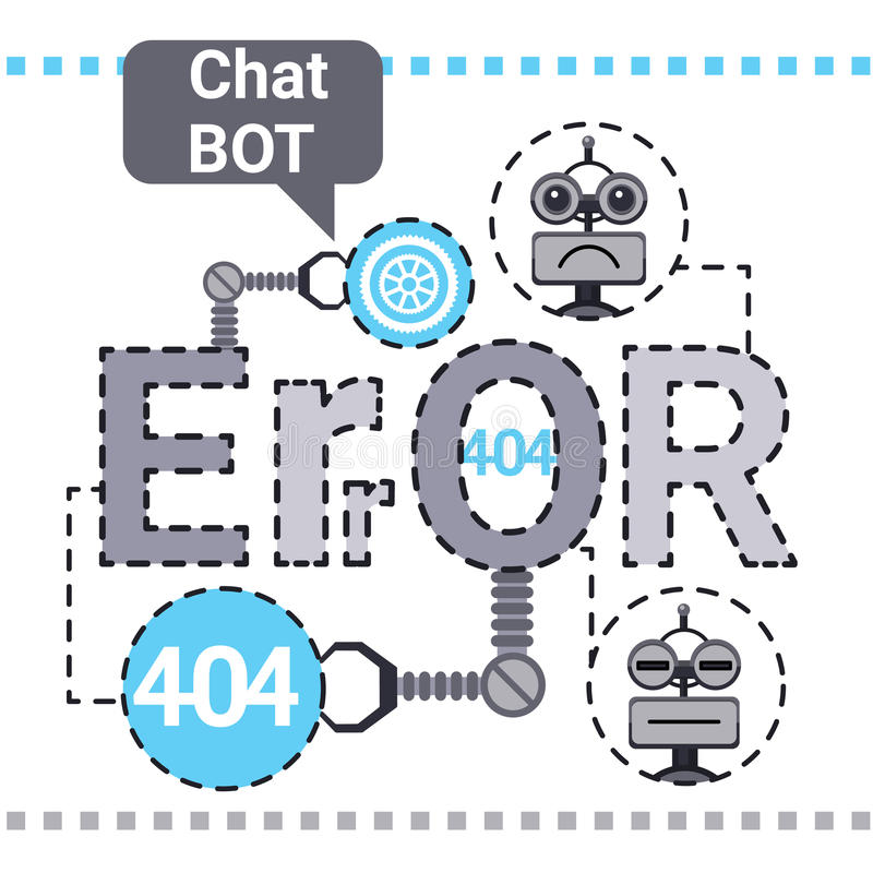 Free Chat Bot Fixing Error, Robot Virtual Assistance Element Of Website Or Mobile Applications, Artificial Intelligence. Concept Vector Illustration vector illustration