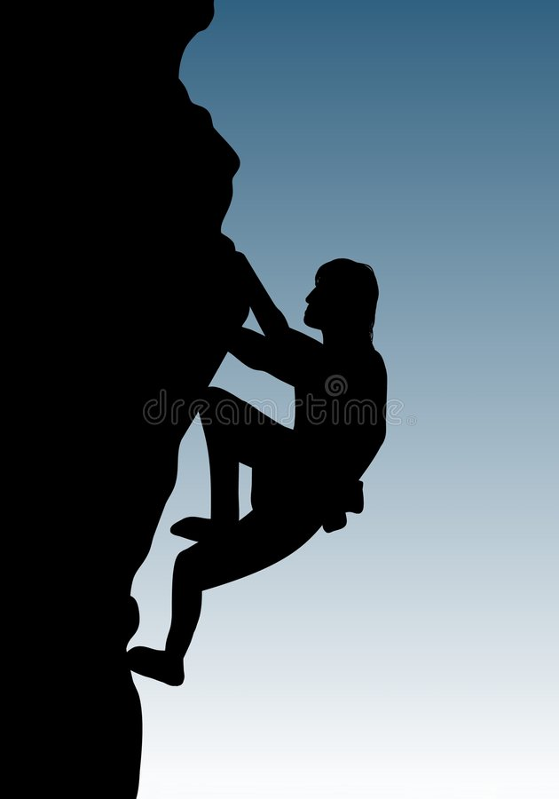 Free climbing royalty free illustration