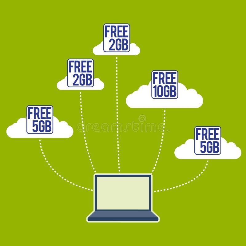 Download Free Cloud Storage Rider stock vector. Image of symbol - 26798330