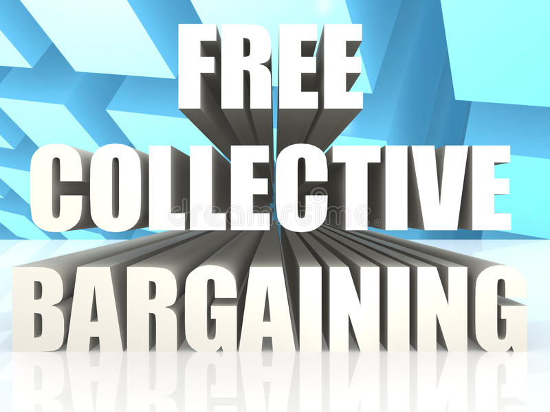 Free Collective Bargaining. Image with hi-res rendered artwork that could be used for any graphic design vector illustration