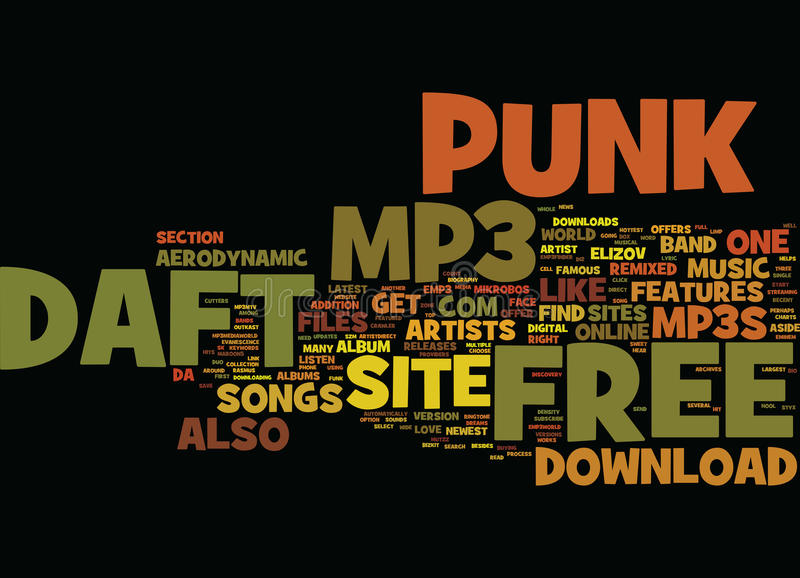 Free Daft Punk Mp Text Background Word Cloud Concept vector illustration