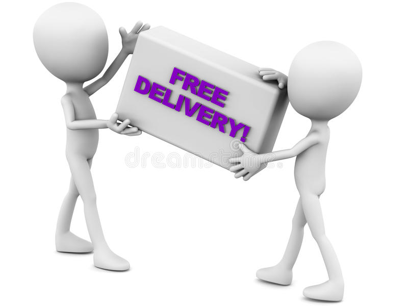 Free delivery royalty free illustration