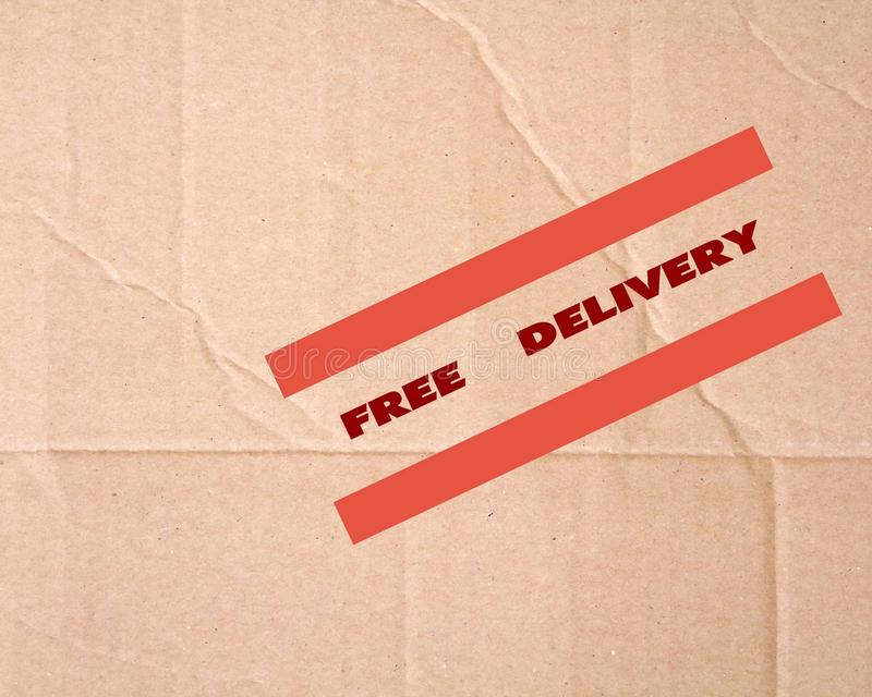 Free delivery sign stock photography