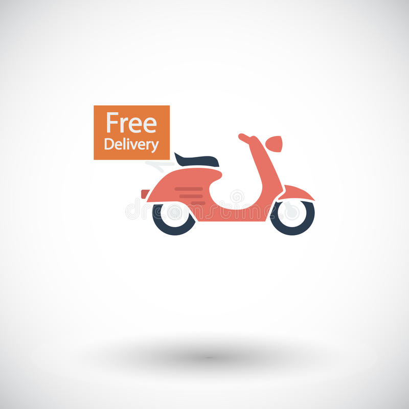 Free Delivery. Single flat icon on white background. Vector illustration stock illustration