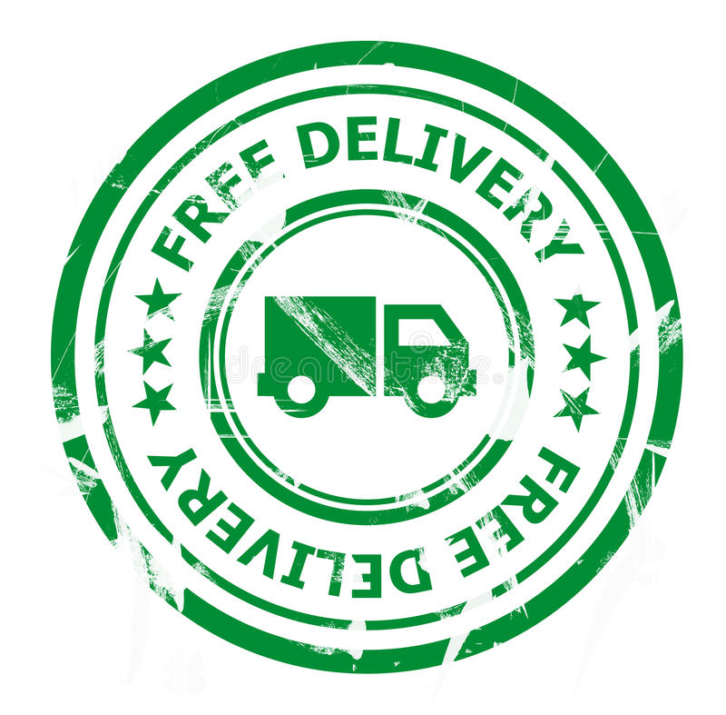 Free delivery stamp stock image