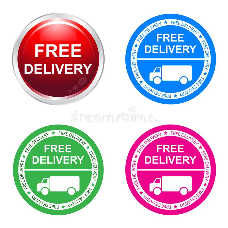 Free delivery sticker royalty free illustration