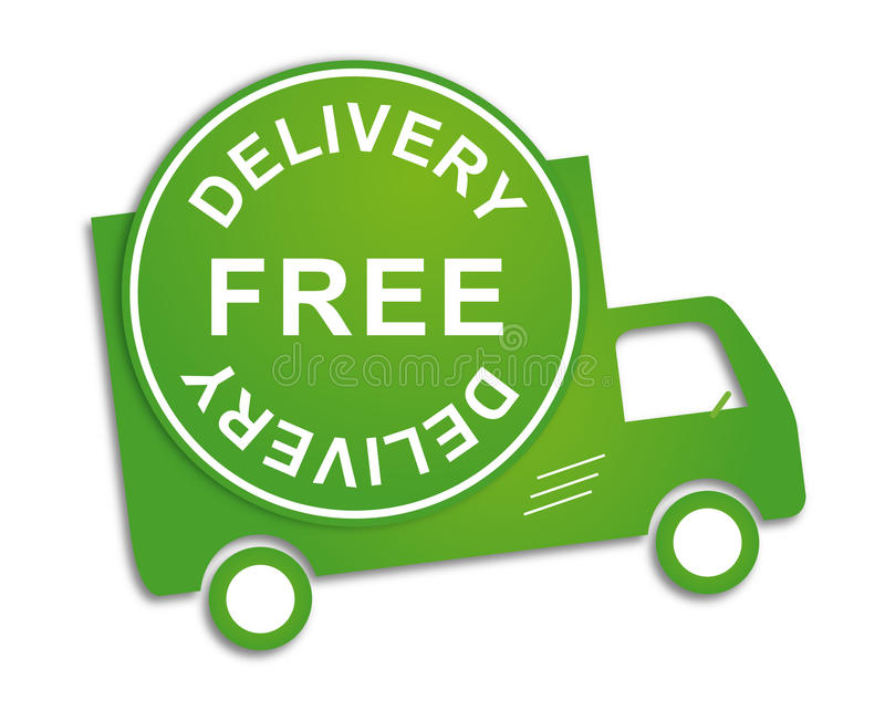 Free delivery truck stock illustration