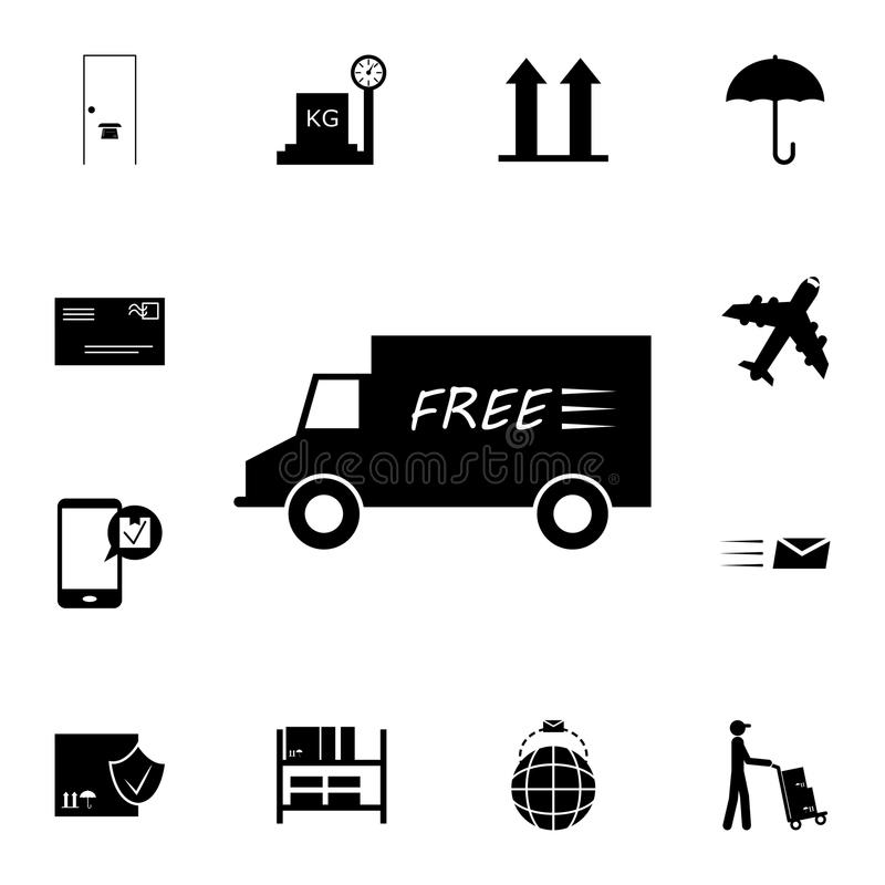 free delivery by truck icon. Detailed set of logistic icons. Premium quality graphic design icon. One of the collection icons for stock illustration