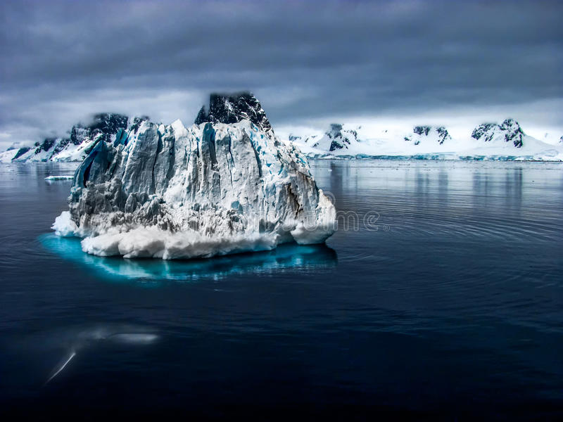 Freed and detached iceberg stock images