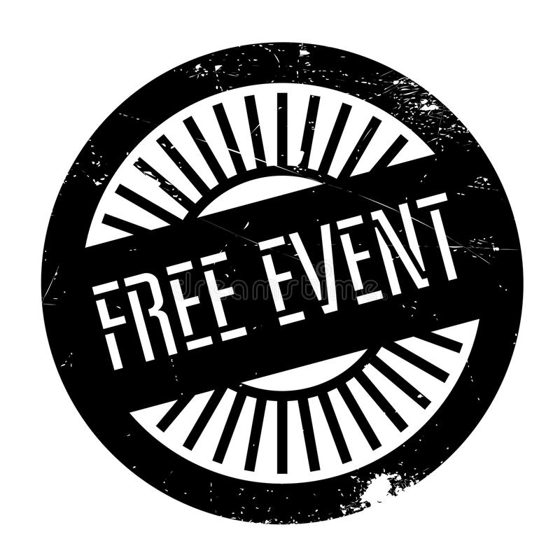 Free event stamp. Grunge design with dust scratches. Effects can be easily removed for a clean, crisp look. Color is easily changed vector illustration