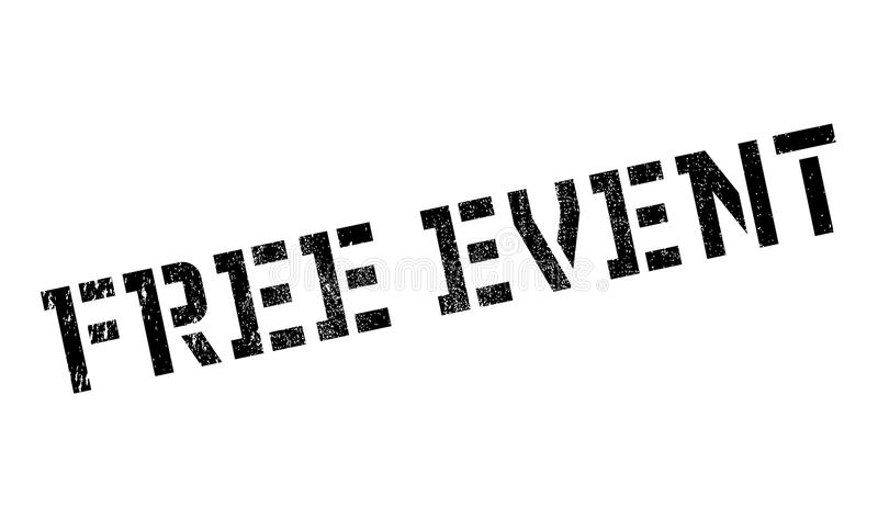 Free event stamp. Grunge design with dust scratches. Effects can be easily removed for a clean, crisp look. Color is easily changed stock illustration