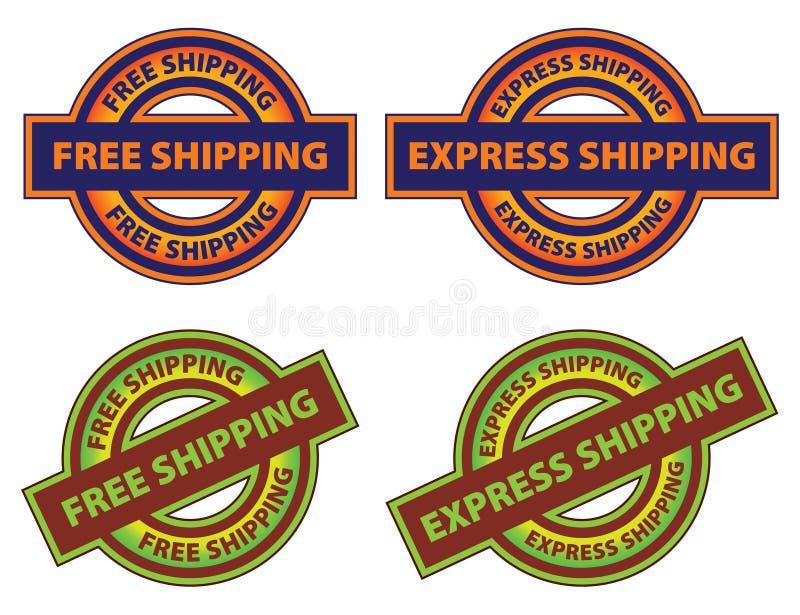 Free Express Shipping Icon stock illustration