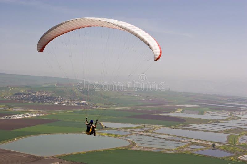 Free fall parachute royalty free stock photography