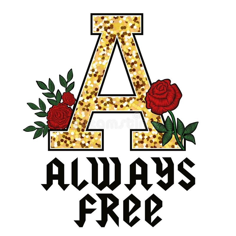 always free fashion glitter type for modern clothes print stock