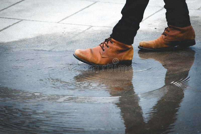 The free footprints of my clumsy walk royalty free stock photo