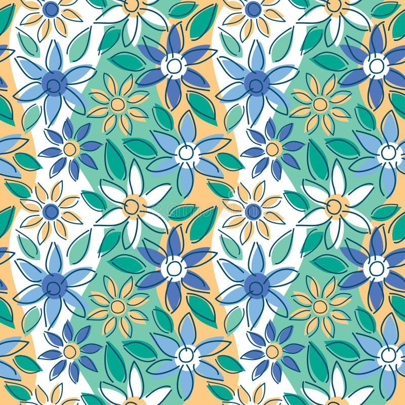 Free-Form Floral Summer stock illustration