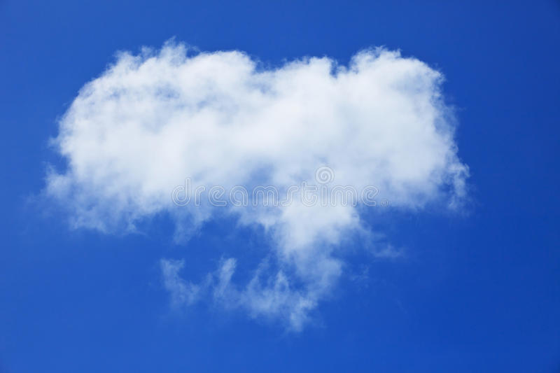 Free form of white cloud on blue sky royalty free stock photography