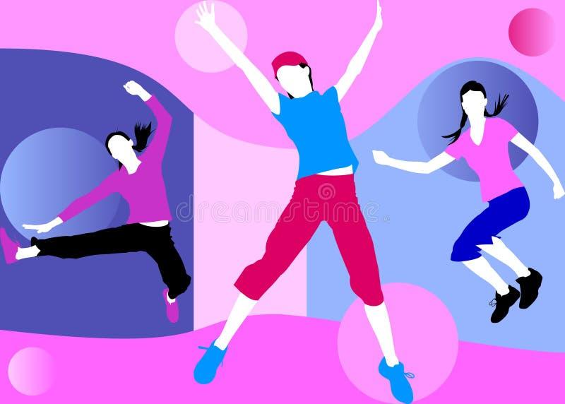 Download Free Girls stock illustration. Illustration of aerobics - 3804331