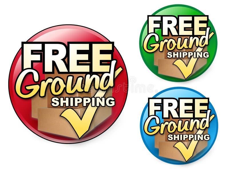 Free Ground Shipping Icons Sets royalty free illustration