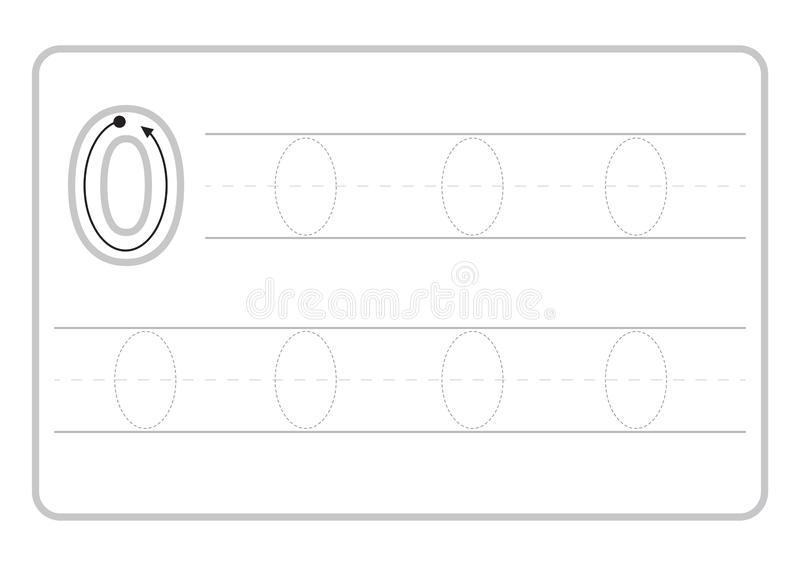 Free handwriting pages for writing numbers Learning numbers, Numbers tracing worksheet for kindergarten royalty free illustration