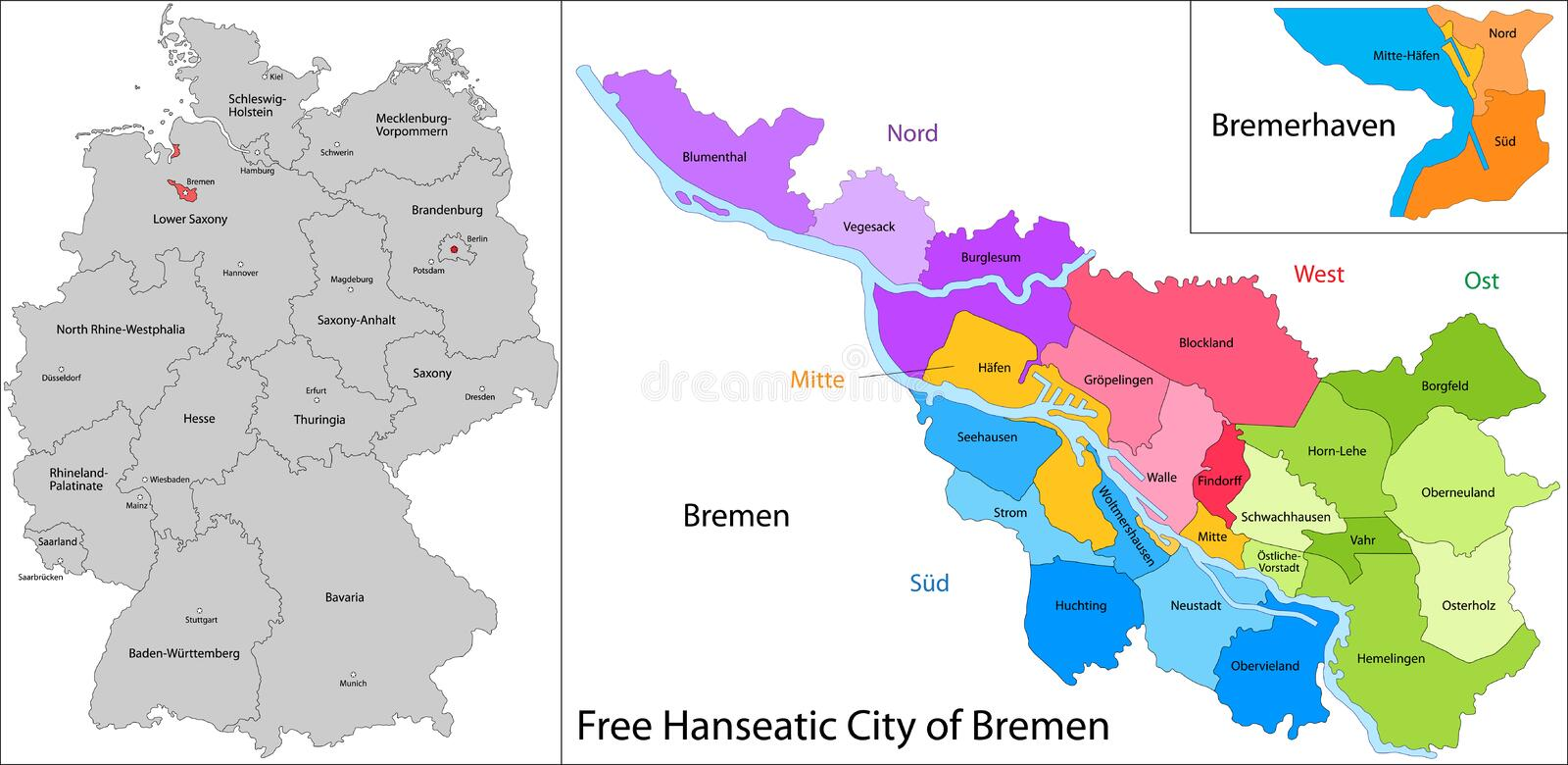 download free hanseatic city of bremen stock vector illustration of city element 32752699