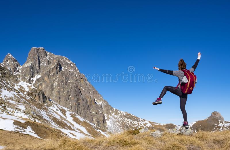 Free Happy Woman Enjoying Nature. Beauty Girl Outdoor. Freedom concept. stock photography