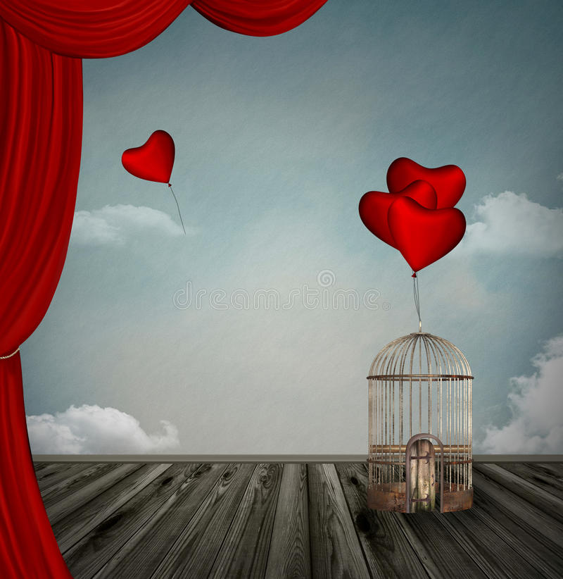 Download Free hearts stock illustration. Image of freedom, love - 28408716