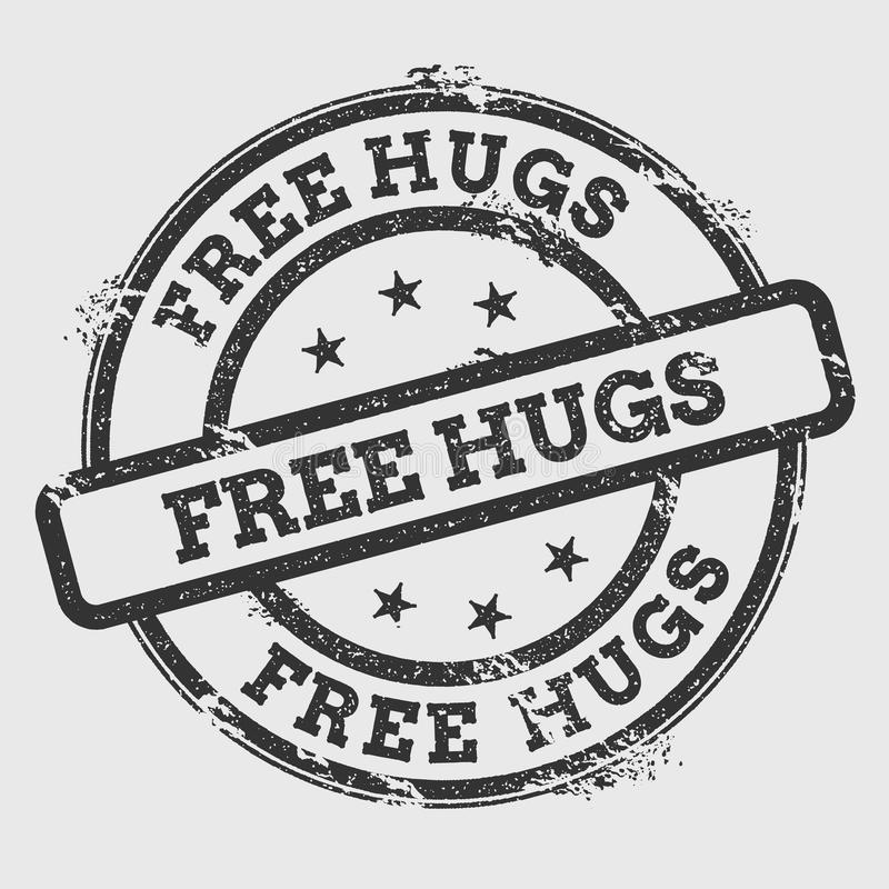 Free Free Hugs Rubber Stamp On White. Stock Photo - 94340970